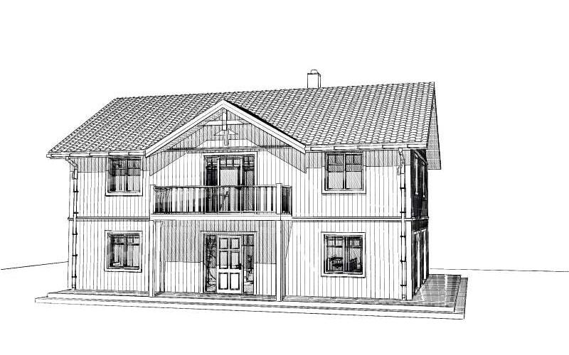 Dagö fasadritning
