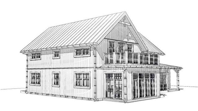 Gränsö fasadritning