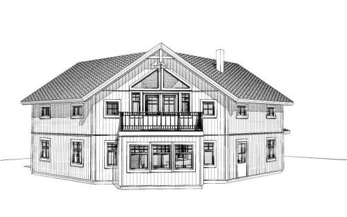 Malmön fasadritning