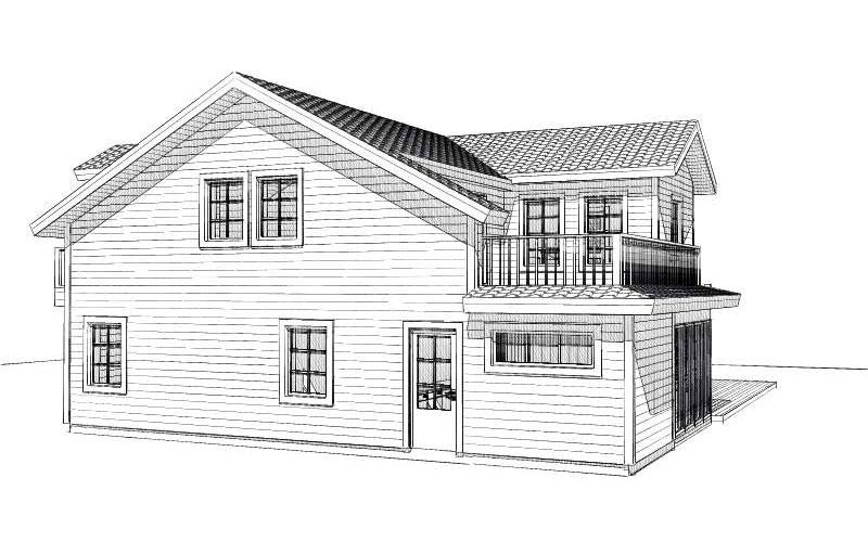 Odensholm fasadritning