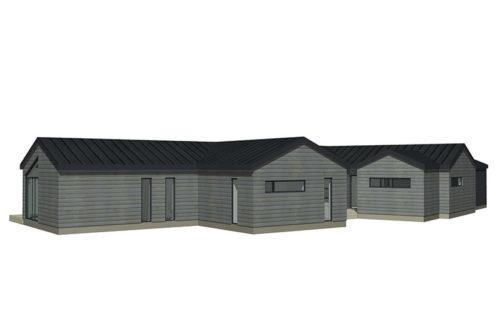 Skavdö grå liggande panel