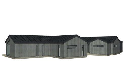 Skavdö grå stående panel
