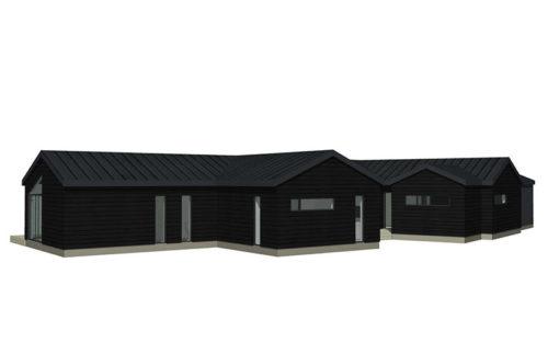 Skavdö svart liggande panel