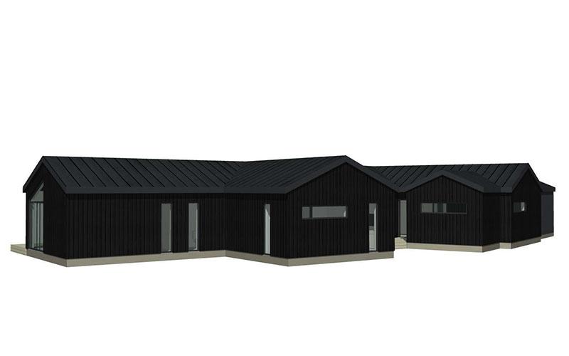 Skavdö svart stående panel